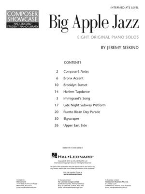 Jeremy Siskind: Big Apple Jazz: Piano or Keyboard
