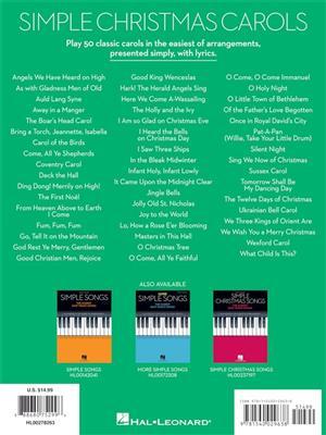 Simple Christmas Carols: Easy Piano