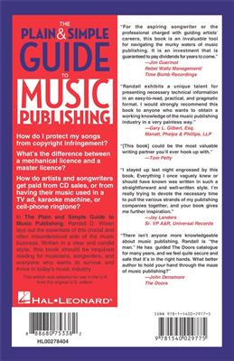 Randall Wixen: The Plain And Simple Guide To Music Publishing: Books on Music