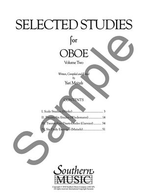 Selected Studies for Oboe Vol. 2