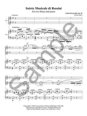 Giulio Briccialdi: Three Duos for Two Flutes and Piano: Flute