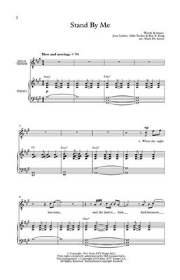Stand By Me: Arr. (Mark De-Lisser): Mixed Choir and Piano/Organ