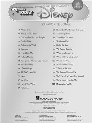 Contemporary Disney - 5th Edition: Piano or Keyboard