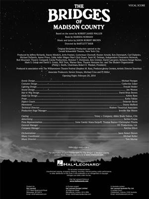 Jason Robert Brown: The Bridges of Madison County: Vocal