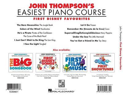 John Thompson: First Disney Favourites: Piano