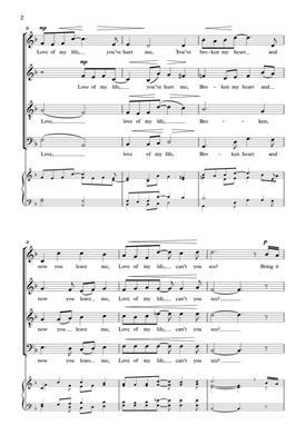 Freddie Mercury: Love Of My Life: Arr. (Jonathan Rathbone): SATB