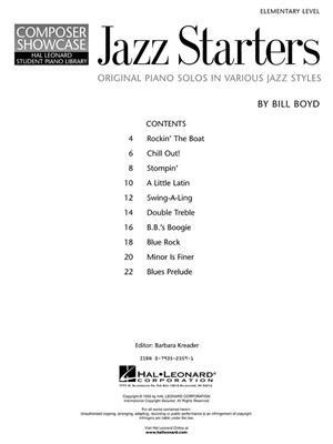 Bill Boyd: Jazz Starters: Piano or Keyboard