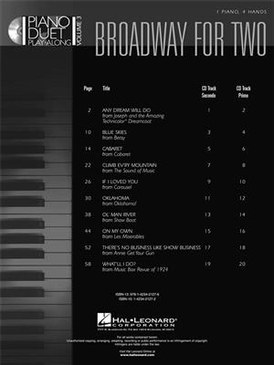 Broadway For Two : Piano Duet