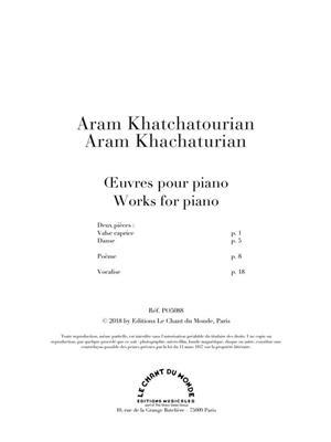 Aram Khatchatourian: Oeuvres pour Piano: Piano