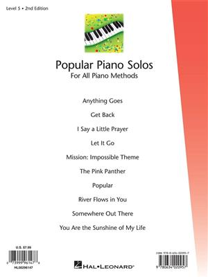 Fred Kern: Popular Piano Solos Level 5: Piano or Keyboard