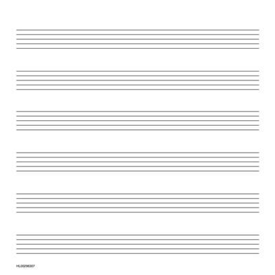 Music Manuscript Paper Wide Staff