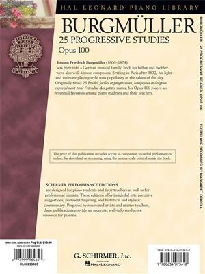 Friedrich Burgmüller: 25 Progressive Pieces, Opus 100: Piano