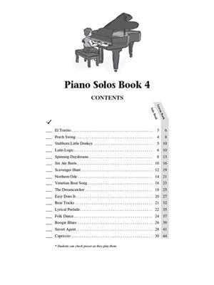 Barbara  Kreader: Piano Solos Book 4: Piano or Keyboard