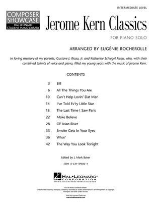 Jerome Kern: Jerome Kern - Classics: Piano or Keyboard