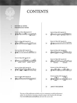 Johann Sebastian Bach: Selections From The Notebook Anna Magdalena Bach: Piano