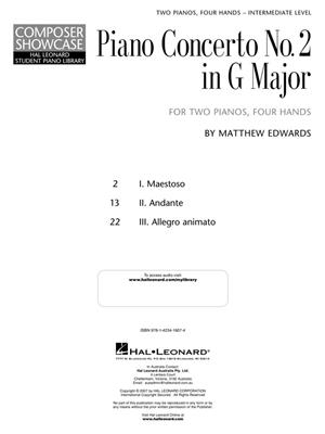 Matthew Edwards: Concerto No.2 In G For 2 Pianos, 4 Hands: Piano 4 Hands