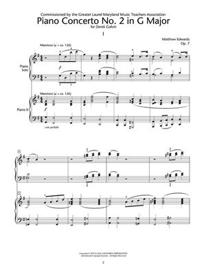 Matthew Edwards: Concerto No.2 In G For 2 Pianos, 4 Hands: Piano or Keyboard