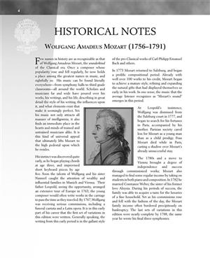 Wolfgang Amadeus Mozart: Selected Variations: Piano