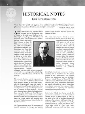 Erik Satie: Gymnopédies And Gnossiennes: Piano