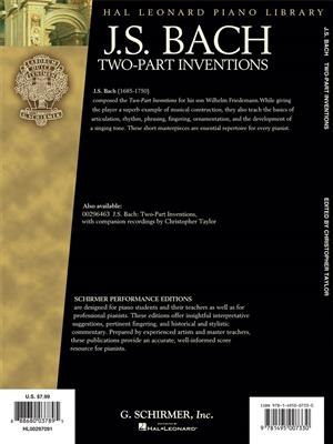 Johann Sebastian Bach: Two-part Inventions - Piano: Piano or Keyboard