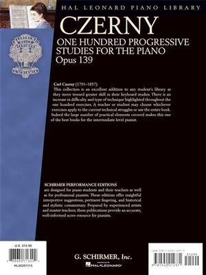 Carl Czerny: One Hundred Progressive Studies, Op. 139: Piano or Keyboard
