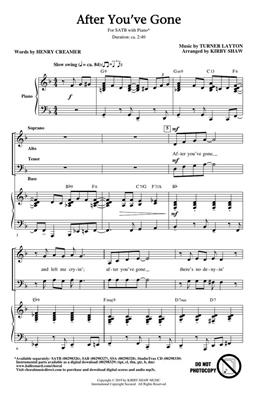 Henry Creamer: After You've Gone: Arr. (Kirby Shaw): SATB