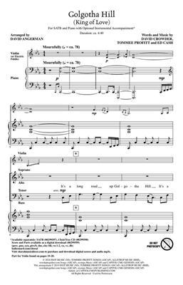 David Crowder: Golgotha Hill (King of Love): Arr. (David Angerman): Mixed Choir and Accomp.