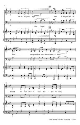 Mary McDonald: This Is the Gospel of Love: SATB