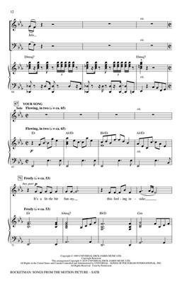 Bernie Taupin: Rocketman: Songs from the Motion Picture: Arr. (Mac Huff): Mixed Choir a Cappella