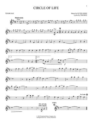 Elton John: The Lion King - Tenor Sax: Tenor Saxophone