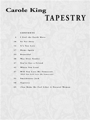 Carole King: Carole King - Tapestry-easy piano: Piano or Keyboard