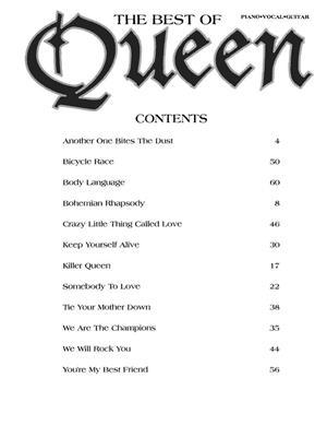 Queen: The Best of Queen: Piano, Vocal, Guitar