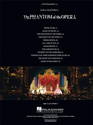 Andrew Lloyd Webber: The Phantom Of The Opera - Movie Selections: Piano, Vocal and Guitar (songbooks)