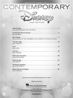 Contemporary Disney Solos - 2nd Edition: Piano or Keyboard