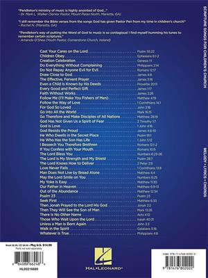 Scripture Songs for Children's Church: Arr. (Pendleton Brown): Melody, Lyrics & Chords