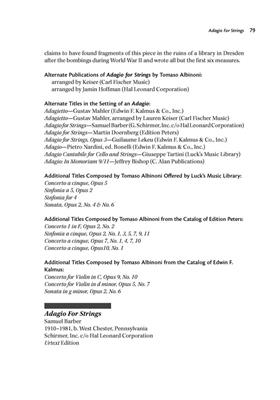 Great Music for String Orchestra: String Orchestra