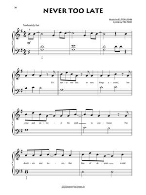 Elton John: The Lion King - Beginning Piano Solo: Easy Piano