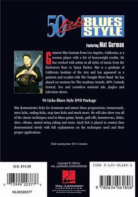 Mat Gurman: 50 Licks Blues Style: Guitar or Lute