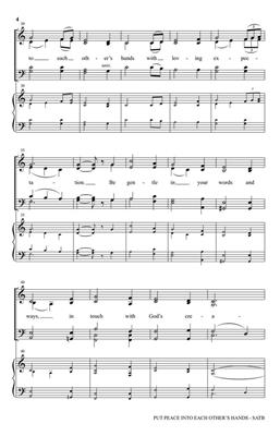 Put Peace into Each Other's Hands: Arr. (John Purifoy): SATB