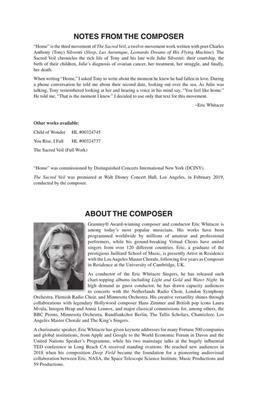 Eric Whitacre: Home: SATB