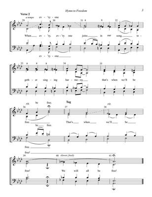 Oscar Peterson: Hymn to Freedom: Arr. (Jim Clancy): SATB