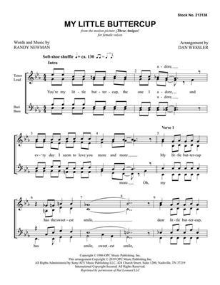 Randy Newman: My Little Buttercup: Arr. (Dan Wessler): SSAA
