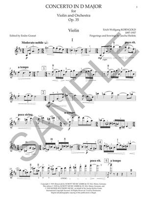 Erich Wolfgang Korngold: Violin Concerto in D Major, Op. 35: Orchestra and Solo