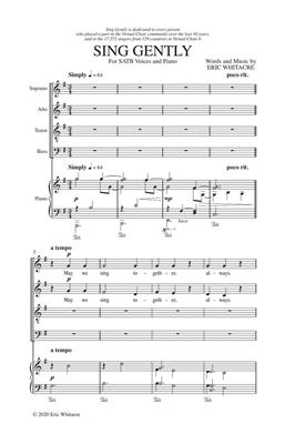 Eric Whitacre: Sing Gently: SATB