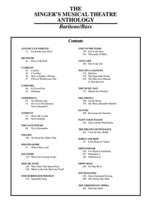 Singer's Musical Theatre Anthology - Volume 1: Vocal and Piano