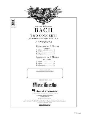 Johann Sebastian Bach: Violin Concerto No. 1 in A Minor, BWV1041: Violin