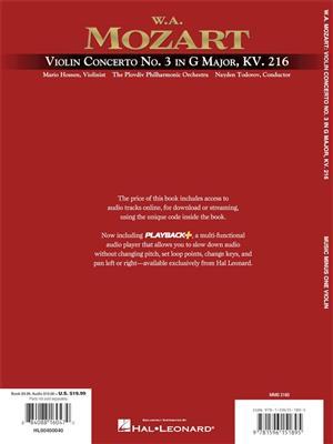 Wolfgang Amadeus Mozart: Violin Concerto No. 3 in G Major, KV216: Violin