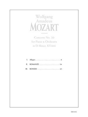 Wolfgang Amadeus Mozart: Concerto No. 2 in D Minor, KV 466: Piano