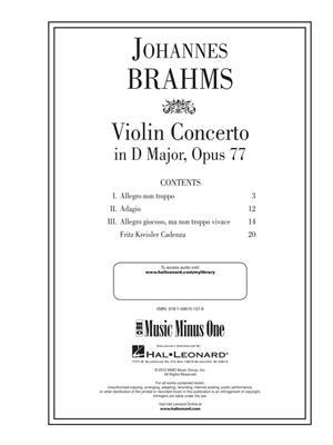Johannes Brahms: Violin Concerto in D Major, Op. 77: Violin