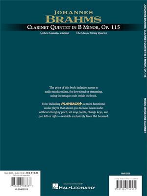 Johannes Brahms: Clarinet Quintet in B minor, Op. 115: Clarinet Ensemble